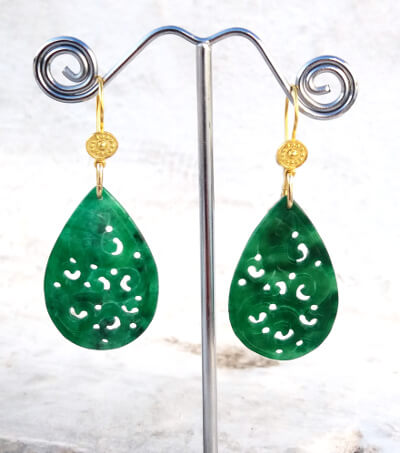 Jade Earrings Smaller Drops